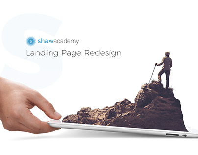 Shaw Academy Landing Page Redesign