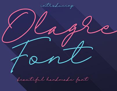 Olagre Beautiful Handmade Font