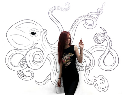 Octopus on the wall