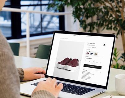 Chekich. Online store web design.