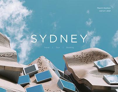 Travel website to Sydney. UX/UI