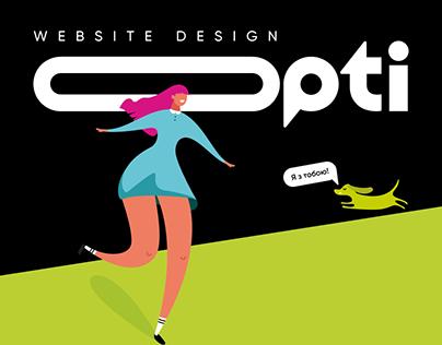 WEBSITE DESIGN FOR OptiTaxi