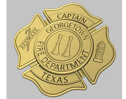 Georgetown Fire Dept. badge for wood carving