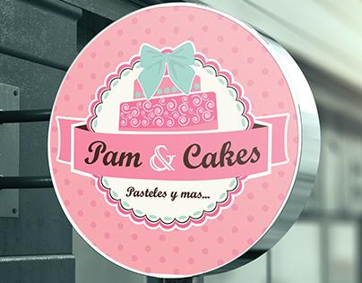 Pam & Cakes - Logo and branding design