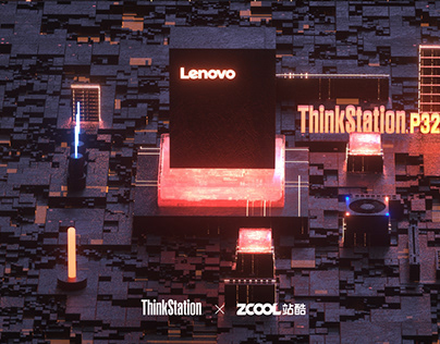 Poster design about lenovo thinkstation