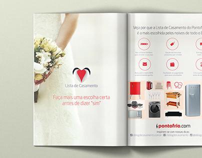 Anúncio Lista de Casamento Pontofrio.com
