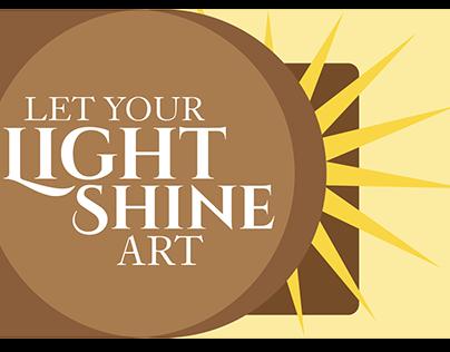 Let Your Light Shine Art Logo Design