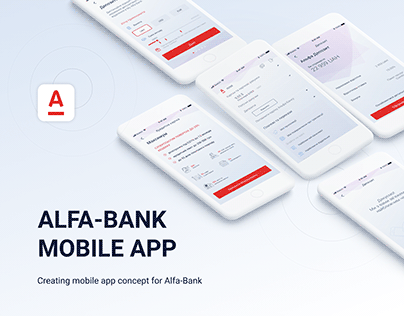 Alfa-Bank Mobile App Concept | UI/UX Design |
