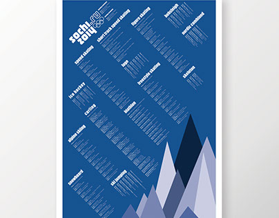 2014 Winter Olympics Schedule Design