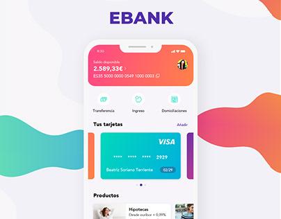 EBank - UX/UI bank app