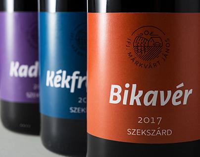 Ifj. Márkvárt János | Wine label & logo