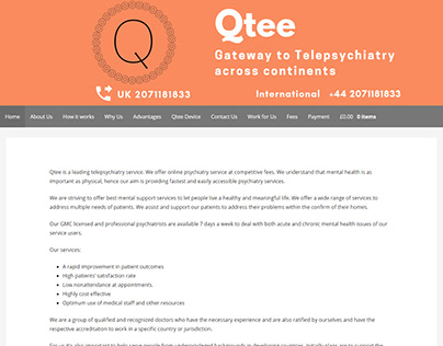 Health (telepsychiatry) website