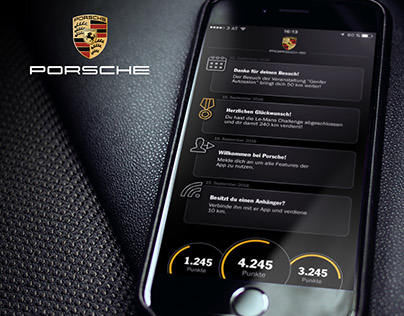 Porsche Gamification App UI