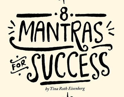 8 Mantras of Success: A Lettered Letterpress Book