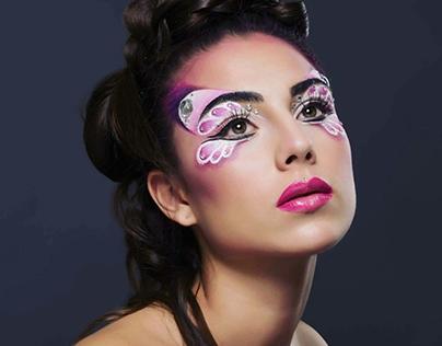 Pink Butterfly - Aqua Makeup