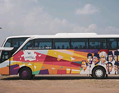 WPAP Pop Art on the Bus
