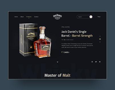 Jack Daniel's UI design concept