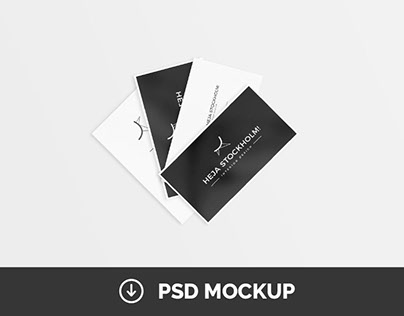 8 Free Clean Business Card Mockups | PSD