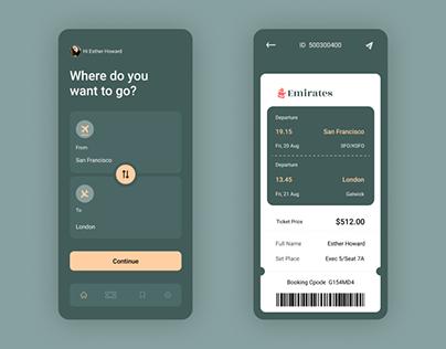 Airline Ticket Book App Dessign