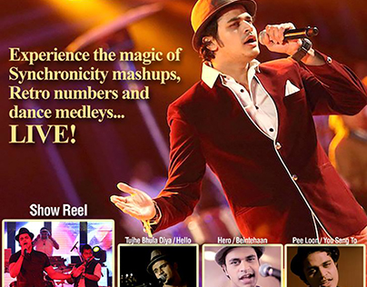 Email Flyer for Bollywood Singer/Song Writer - Gaurav