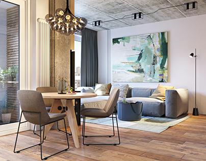 "Soft loft. Design with ""Martin architects"""