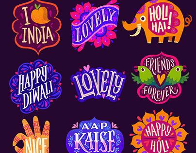 Facebook Stickers x Buck Design