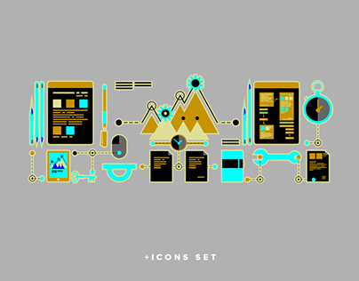 Front end development Web ICON conception