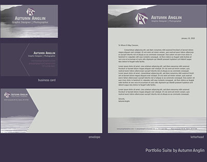 Autumn Anglin personal branding suite.