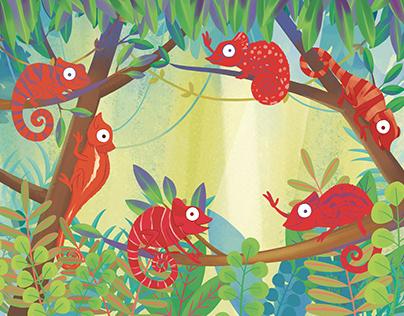 red chameleons