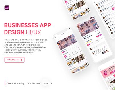 BUSINESSES APP DESIGN UI/UX