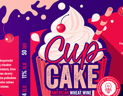 Brokreacja WineCake CupCake Beer Labels