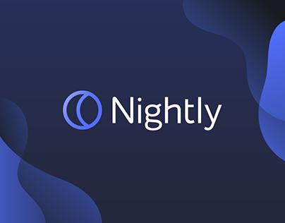Nightly app | logo & brand identity