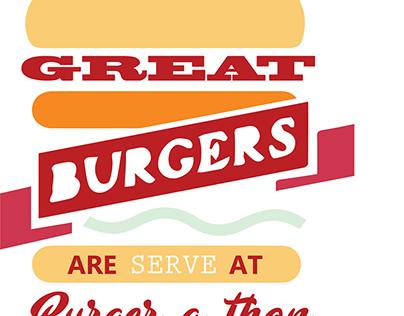 Logo design for burger company