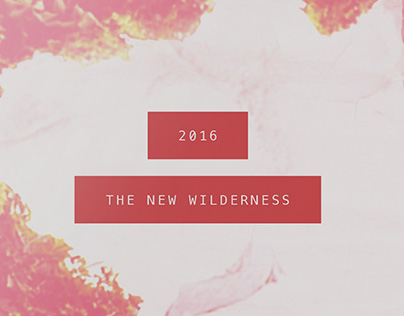 2016 The New Wilderness – day planner