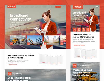 Radwin's Responsive Corporate Website Redesign