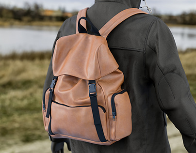 Realistic 3D model of Men's Backpack 7