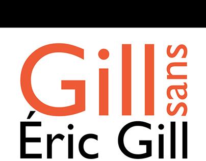 Typographie Gill Sans