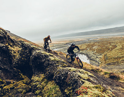 single track lines in Iceland