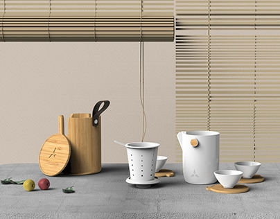 Bamboo Teaset Design For BRICS 2017 China