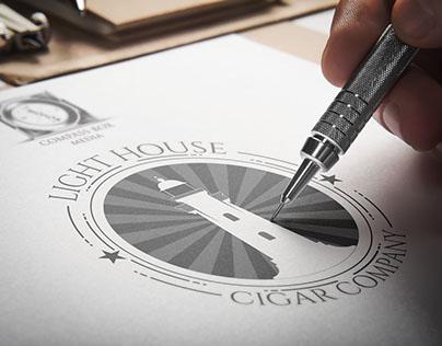 Light House Cigar Company Logo Design