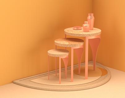 Overlay – Terrazzo Nested Table