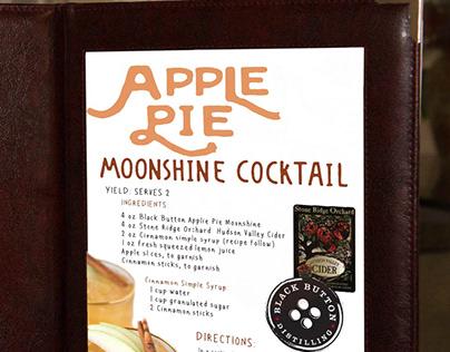 Apple Pie Moonshine Cocktail Menu