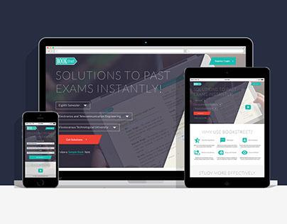 Bookstreet Web and Mobile UI Design
