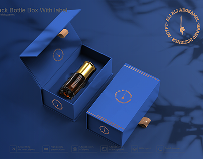 FREE Perfume-bottle-with-hard-paper-box Mockup