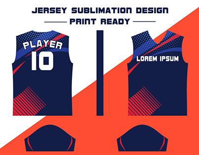 Sports Jersey Sublimation Pattern Print ready
