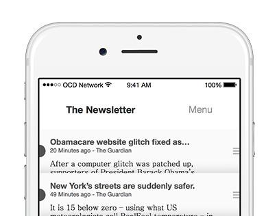 The Newsletter - Minimalist News App Concept
