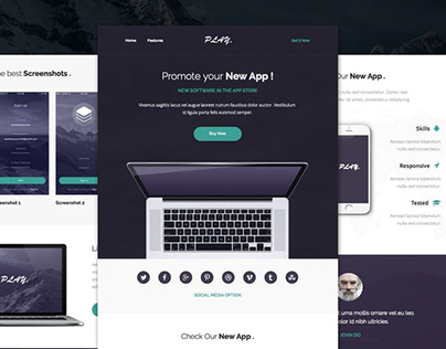 App Responsive Email Template Design