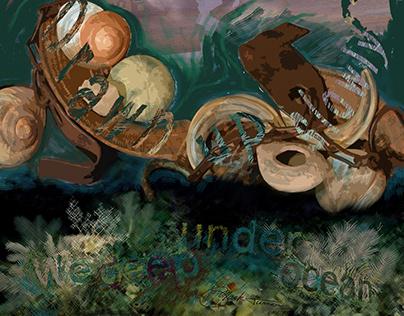 """We Deep Under"" poem, mixed media, film"