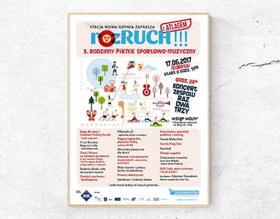 "Graphic Design of ""RozRuch!"" - sports&music event"