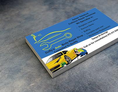 Auto body collision Technician Business cards